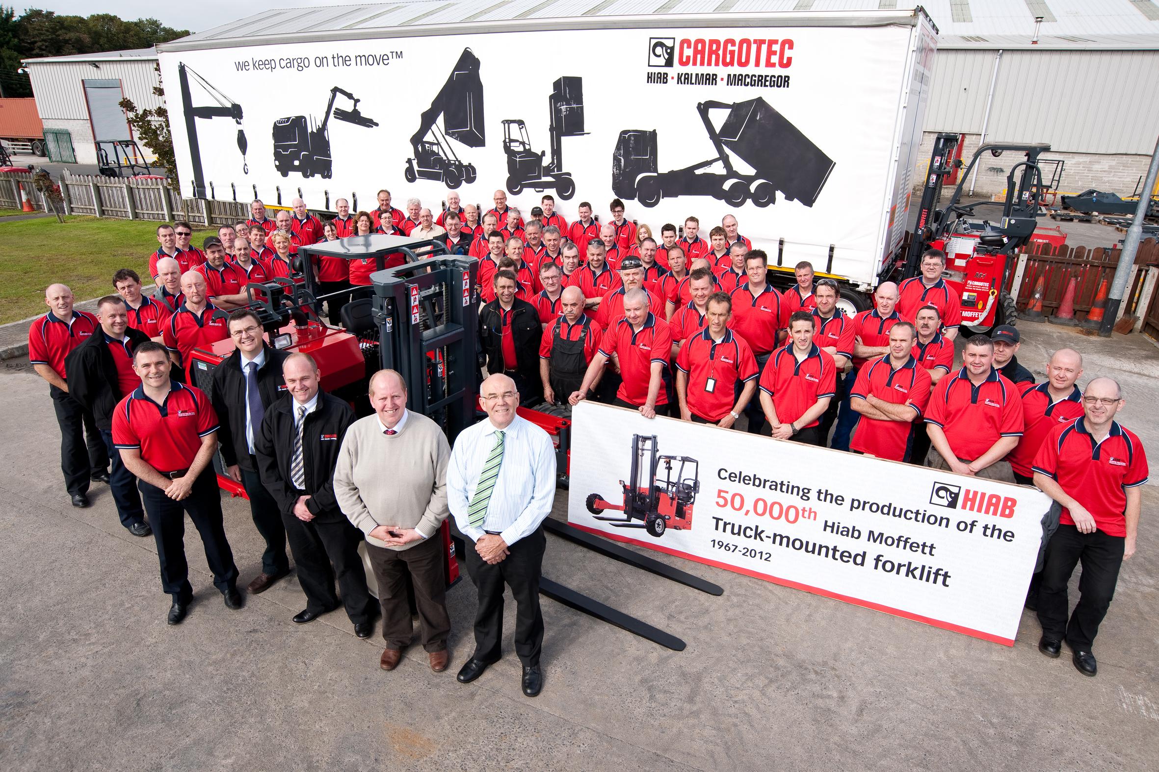 Cargotec team, customer Moy Park and dealer Northern Material Handling