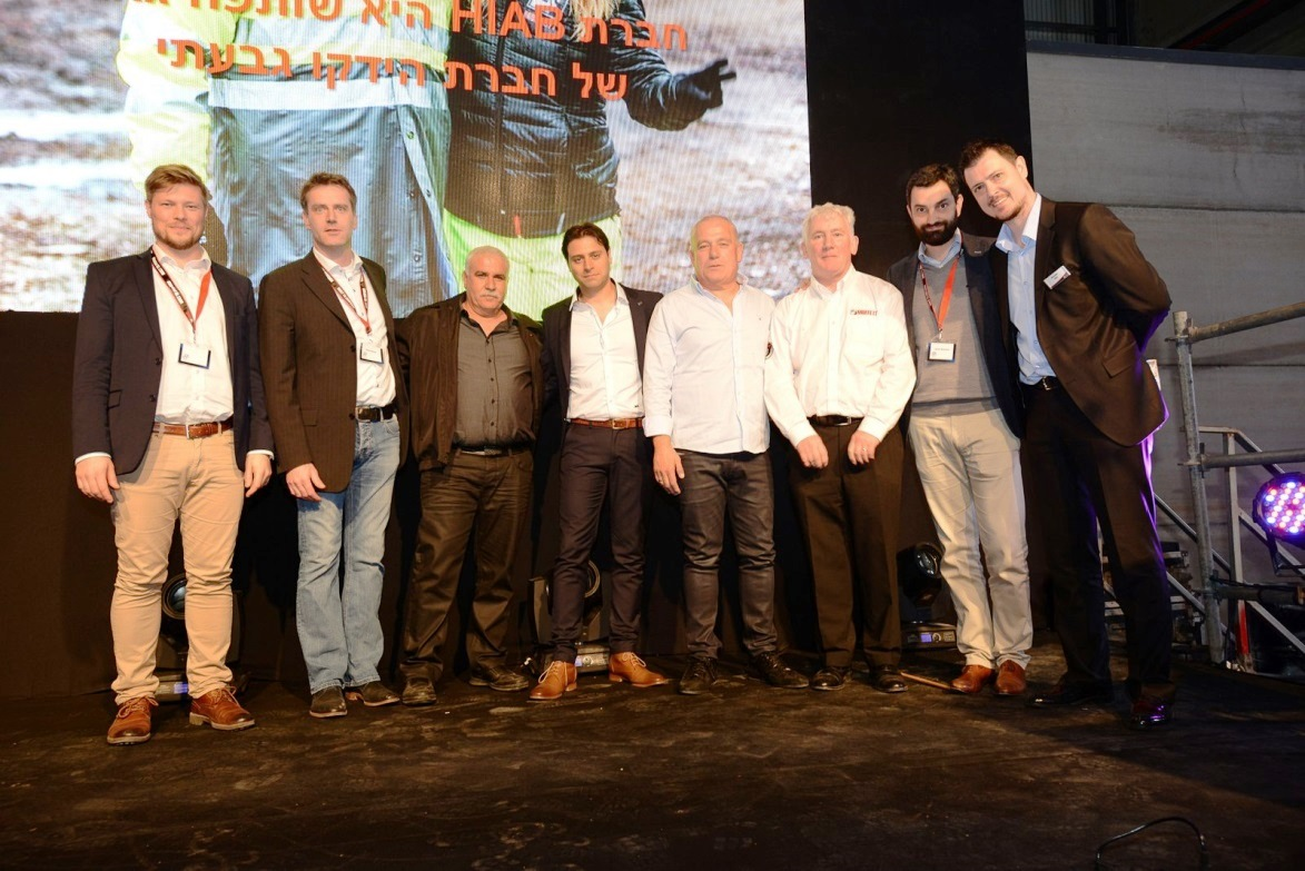 Hiab and Hydco Givati representatives at the opening