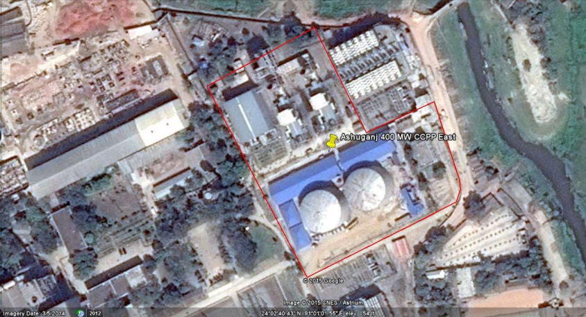 Site of Ashuganj 400 MW Combined Cycle Power Plant (East)