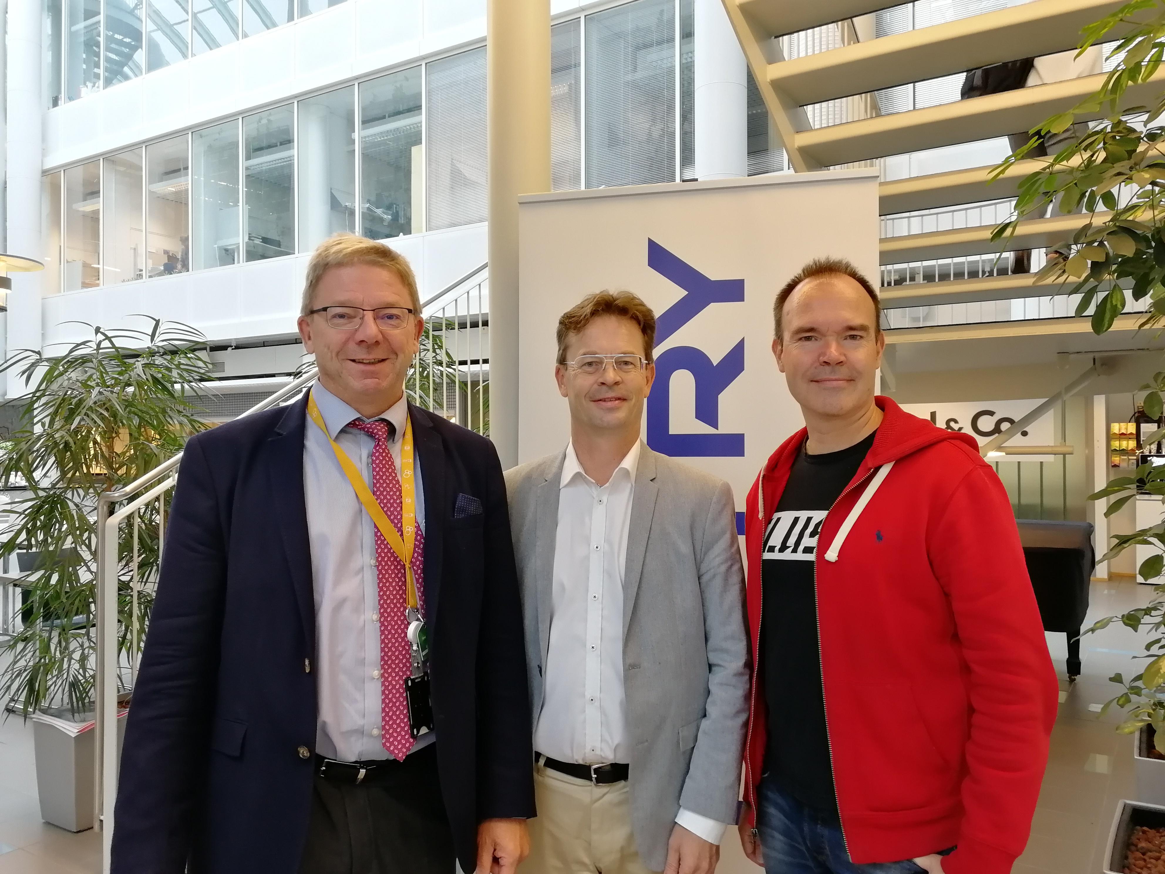 In the picture: Markku Oksanen, Timo Saanio and Peter Vesterbacka