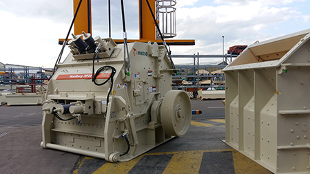 The second NP20 impact crusher just coming out of production