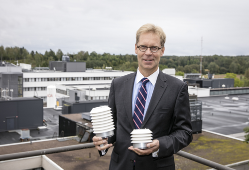 Jarkko Sairanen with Air Quality Transmitters